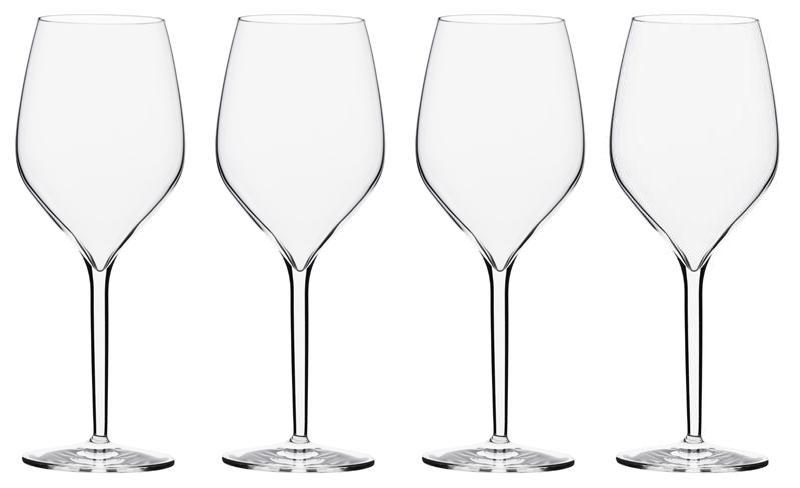 calici in vetro per vino bianco