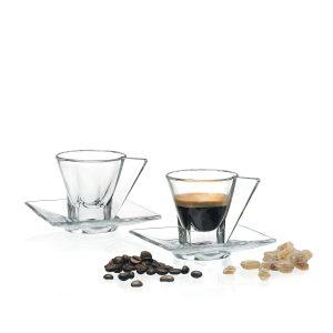 Fusion set espresso RCR 2 tazzine con piattino
