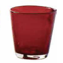 Bicchiere Acqua Bollicine Rosso 25 cl