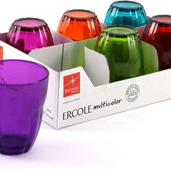 Bicchieri colorati per vino 23 cl Ercole GMA personalizzazione vetro