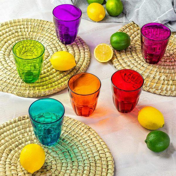 Bicchieri colorati per vino 23 cl Ercole GMA serigrafia vetro