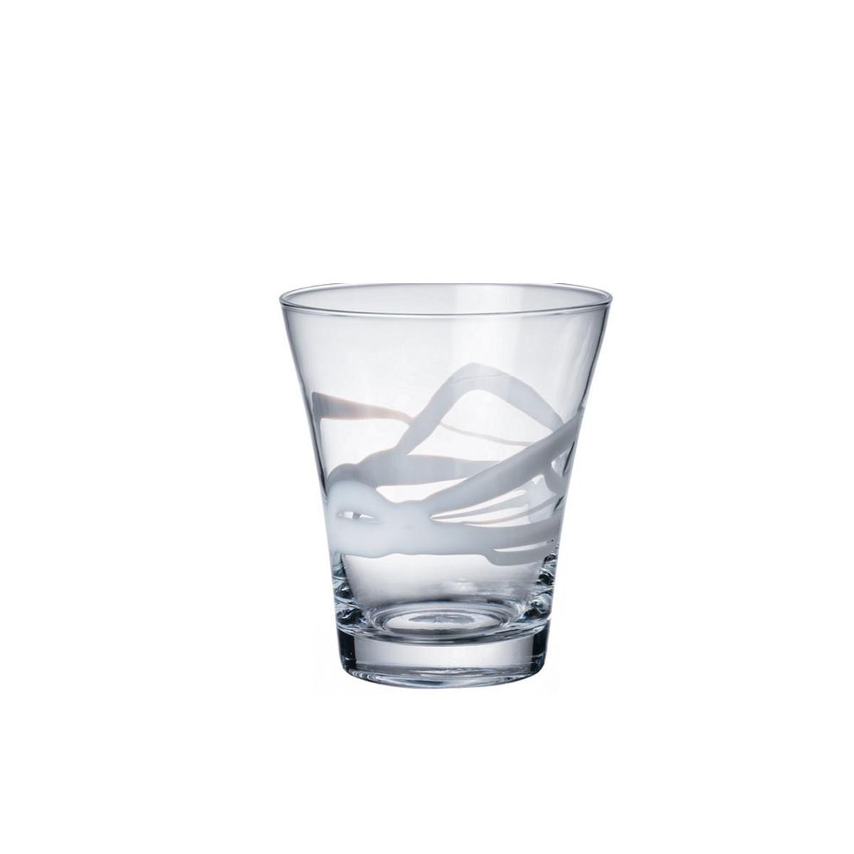 Bicchiere acqua ceralacca bianco 38 5 cl bormioli for Serigrafia bicchieri