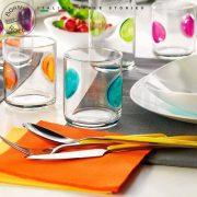Bicchieri Acqua 31 cl Giove arancio, colori assortiti Bormioli Rocco GMA personalizzazione vetro