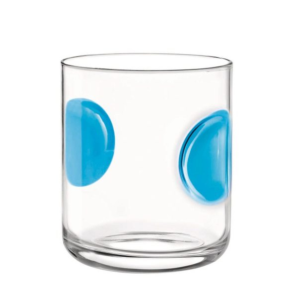 Bicchiere Acqua Giove Azzurro 31 cl Bormioli Rocco GMA serigrafia VR