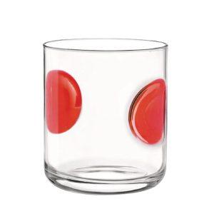 Bicchiere Acqua Giove Rosso Bormioli Rocco GMA serigrafia su vetro