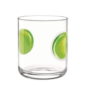 Bicchiere Acqua Giove Verde 31 cl Bormioli Rocco GMA serigrafia su vetro