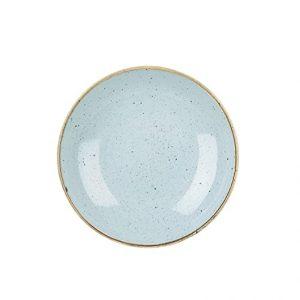 Piatto Fondo Coupe Azzurro 25 cm Stonecast Churchill GMA serigrafie vetro e porcellane