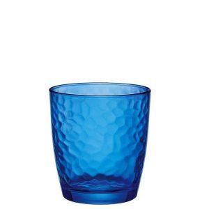 Bicchiere Acqua Palatina Blu 32 cl vetro colorato GMA serigrafia