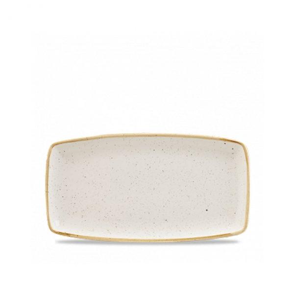 Vassoio Rettangolare Stonecast Churchill bianco 35×18 cm GMA serigrafia su vetro