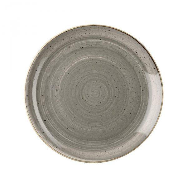 Piatto Piano Grigio 26 cm Stonecast Churchill GMA porcellana