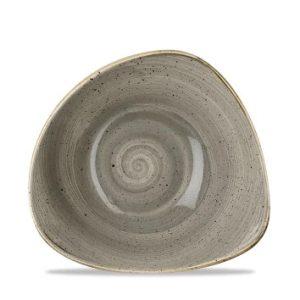 Piatto Fondo Triangolare Grigio 23 cm Stonecast Churchill GMA serigrafia Verona