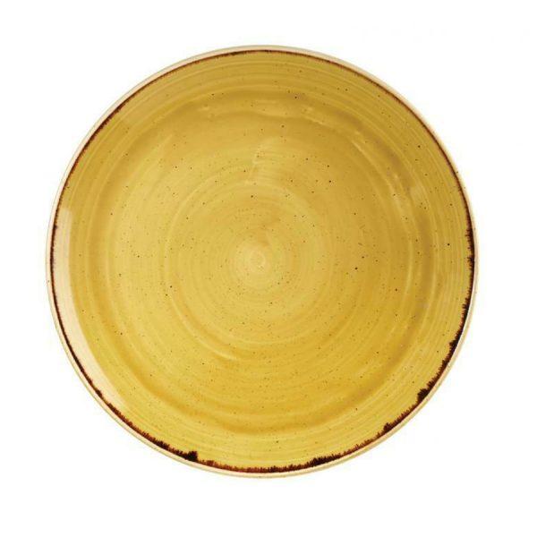 Piatto Piano Giallo 29 cm Stonecast Churchill GMA porcellana