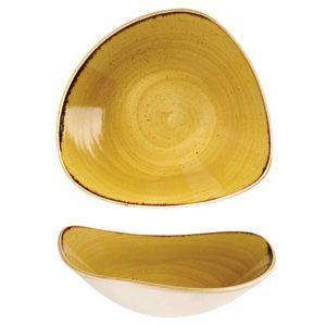 Piatto Fondo Triangolare Giallo 23 cm Stonecast Churchill GMA porcellane verona