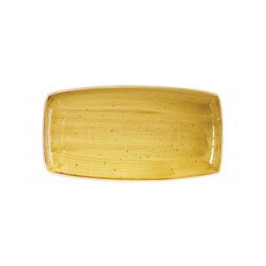 Vassoio Rettangolare Stonecast Churchill Giallo 35x19 cm GMA porcellane