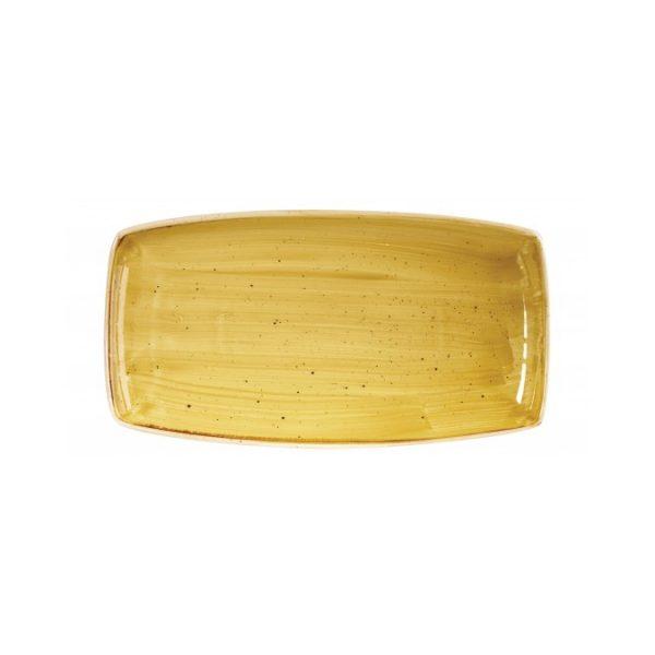 Vassoio Rettangolare Stonecast Churchill Giallo 35×19 cm GMA porcellane