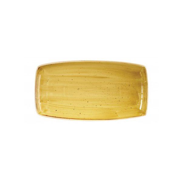 Vassoio Rettangolare Stonecast Churchill Giallo 30×15 cm GMA porcellane