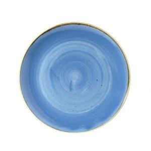 Piatto Fondo Coupe Blu 25 cm Stonecast Churchill GMA porcellana e vetro personalizzazioni