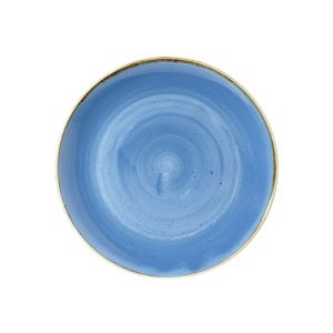 Piatto Fondo Coupe Blu 18 cm Stonecast Churchill GMA porcellana e vetro personalizzazioni