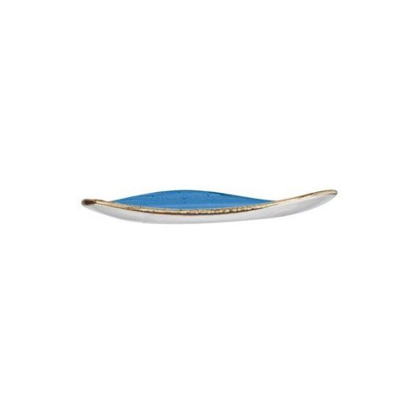 Piatto Piano Triangolare Blu 26 cm Stonecast Churchill GMA vetri e porcellane