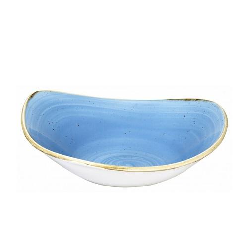 Piatto Fondo Triangolare Blu 18 cm Stonecast Churchill GMA serigrafia porcellane e vetri