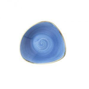 Piatto Fondo Triangolare Blu 15 cm Stonecast Churchill