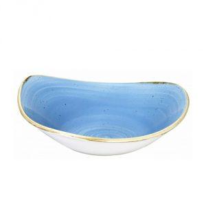Piatto Fondo Triangolare Blu 15 cm Stonecast Churchill GMA serigrafia porcellane e vetro Verona
