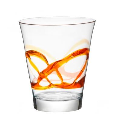 Bicchiere Ceralacca Lui Arancio 38 cl Bormioli Rocco GMA serigrafia su vetro