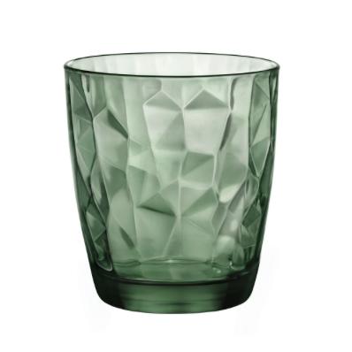 Bicchiere Diamond 30,5 cl verde GMA serigrafia su vetro