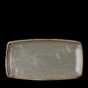 Piatto Rettangolare Stonecast Grigio 35x18,5 cm