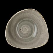 Piatto Fondo Triangolare Stonecast Grigio 18,5 cm