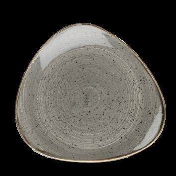 Piatto Triangolare Stonecast Grigio 23 cm