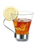 Tazza da tè Ypsilon 32 cl con manico GMA logo su vetro