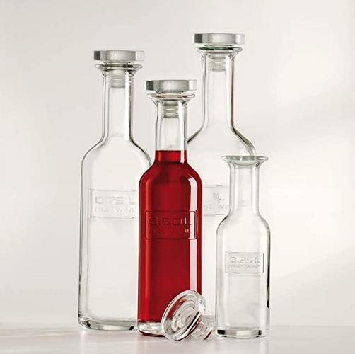 Bottiglia Optima 75 cl per vino Luigi Bormioli serigrafia su vetro GMA