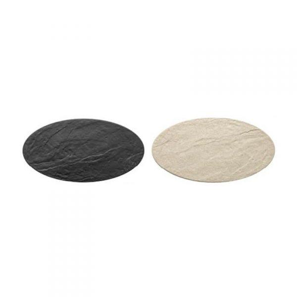Piatto ovale effetto pietra
