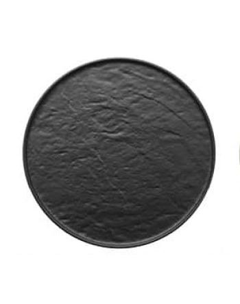 Piatto tondo effetto pietra
