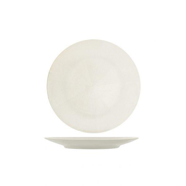 Piatto Piano Bianco Comb 27 cm porcellana H&H GMA serigrafia su vetro