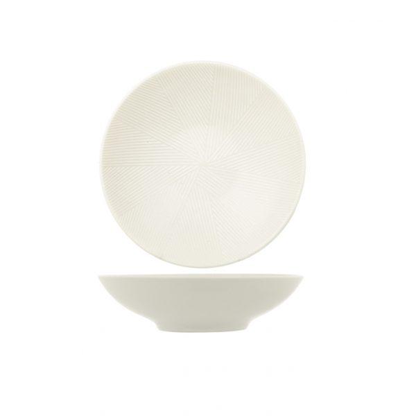 Piatto Fondo Bianco Comb H&H in porcellana GMA serigrafia su vetro