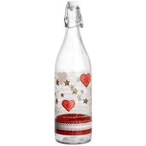 Bottiglia decorazione Cuoricini 1 lt