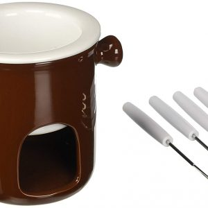 Set Fonduta Cioccolato Marrone