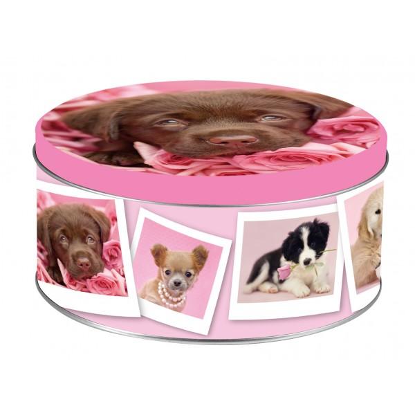 scatole latta tonde decorazione dogs3