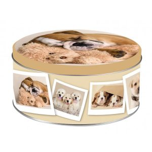 scatole latta tonde decorazione dogs4