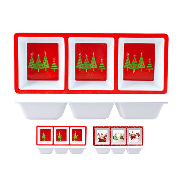 Antipastiera 3 Scomparti Natale