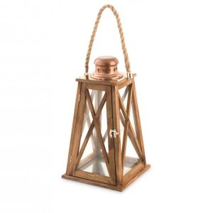 Lanterna Legno 22xH40 cm