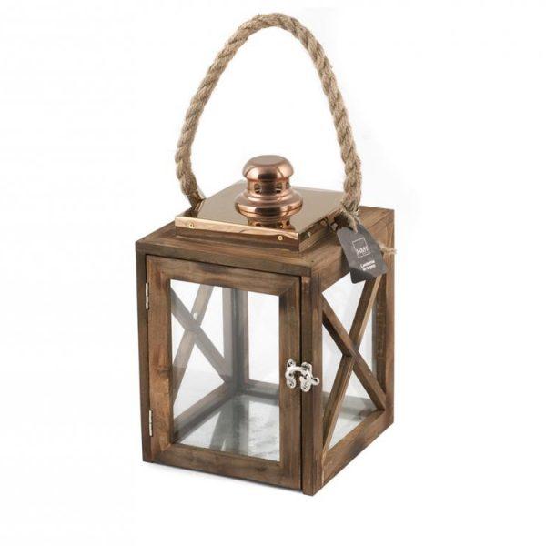 Lanterna Legno 17xH28 cm