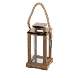 Lanterna Legno 14xH25 cm