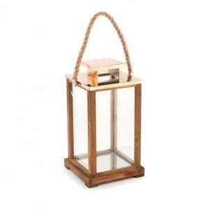 Lanterna Legno 21xH38 cm