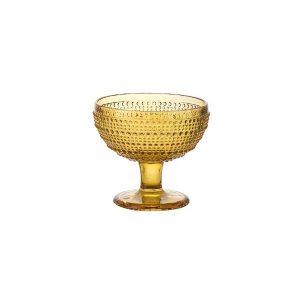 Coppa Gelato Ambra Diamante GMA serigrafia su vetro