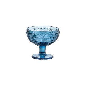 Coppa Gelato Blu Diamante GMA serigrafia su vetro
