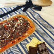 Vassoio Rettangolare Terrae Rosso in melamina Touch Mel catering e buffet GMA serigrafia