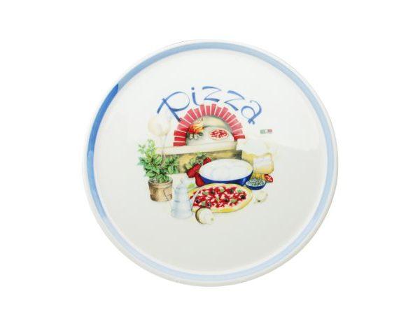 Piatto Pizza Regina 33 cm Saturnia in porcellana GMA serigrafia
